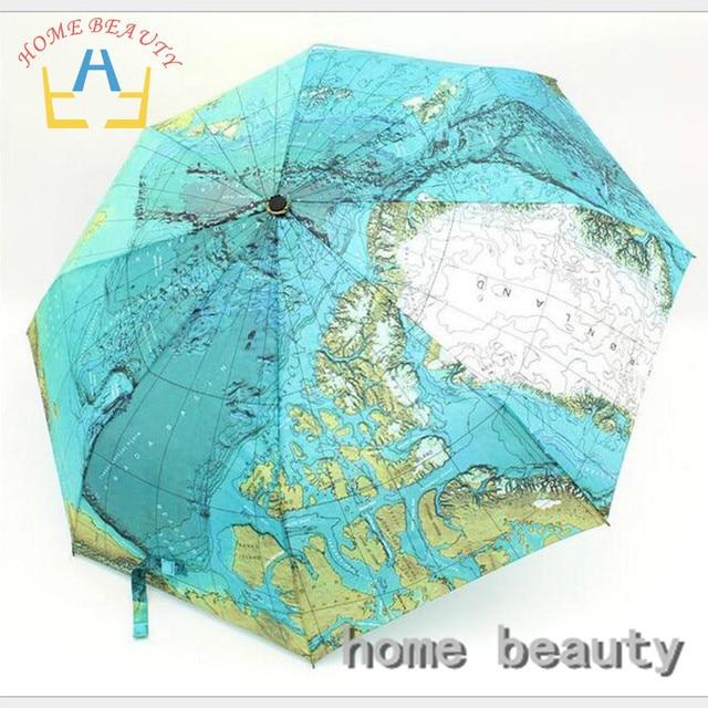 8 К 3 складной полностью автоматическая дождь зонты дешевые высокое качество карту зонтик дождь инструменты женщины мужской зонт от дождя FH202