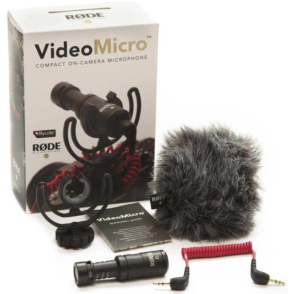 Rode VideoMicro Compact On-Camera Recording Microphone for Canon Nikon Lumix Sony DJI Osmo DSLR Camera Microfone цена 2017