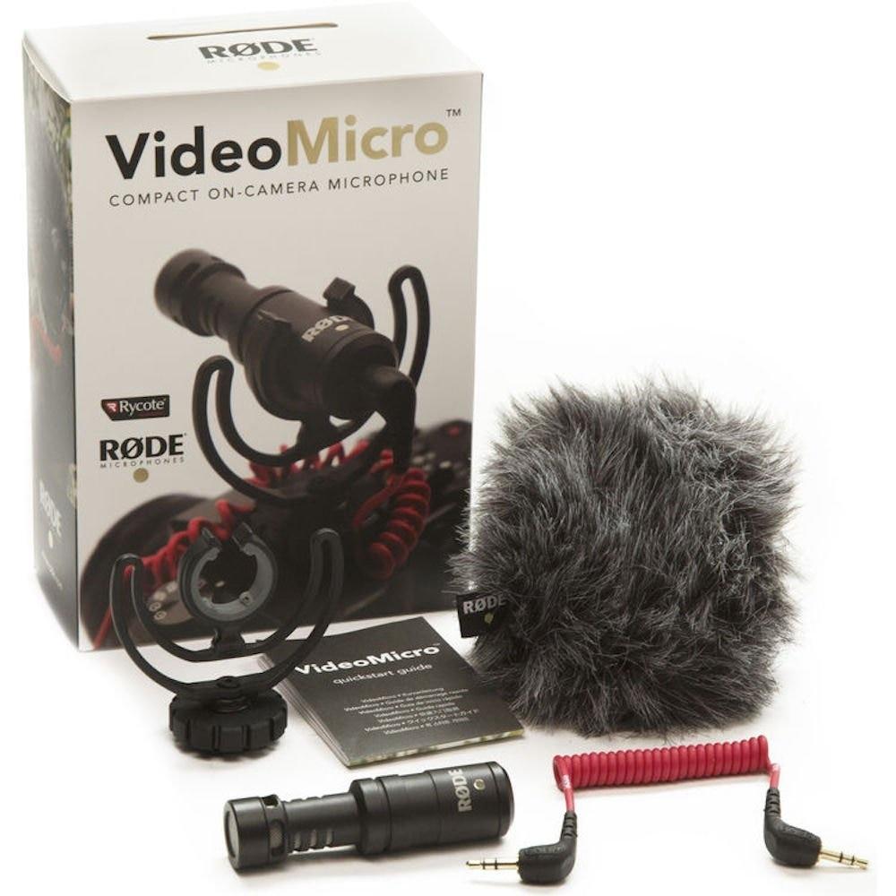 Rode videomicro compacto na câmera microfone de gravação para canon nikon lumix sony dji osmo câmera dslr microfone