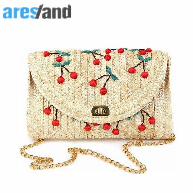 cute summer bag for beach women Straw Women messenger Bags 2018 Female  Bohemian ladies handbags shoulder ae6509101c