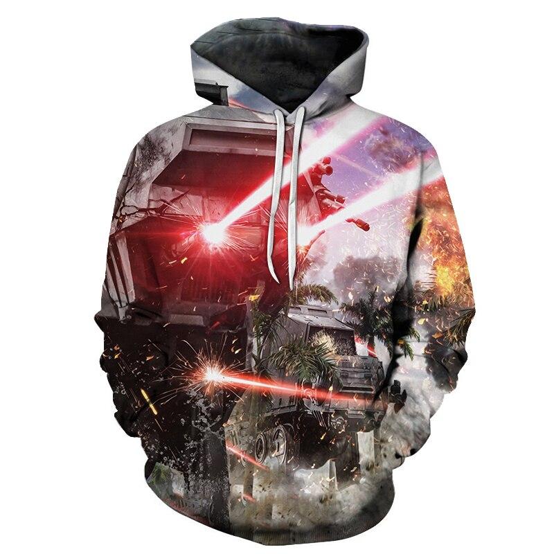 Tank Fight 3D imprimer Sweatshirts hommes Hoodies survêtement pull automne hiver à capuche manteau marque 6XL livraison directe ZOOTOP ours