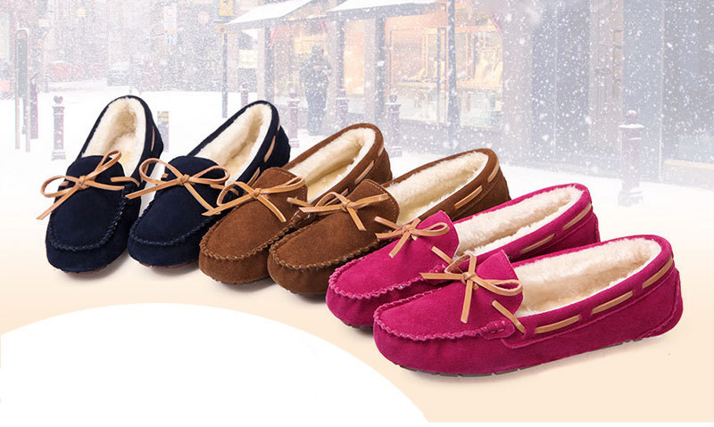 HX 1101-1 & 1108 (1) Plush Winter Warm Shoes Woman