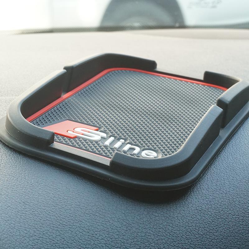 S line Anti-Slip Mat Car Mobile Phone GPS Holder For AUDI Q5 Q7 A1 A3 A4 A5 A6 All Series Car Interior Accessories