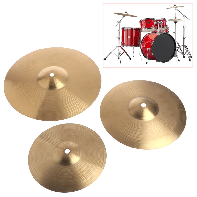 1PC Beginner Copper Alloy Crash Cymbal Drum Durable Brass Percussion Instrument  8/10/12 INCH