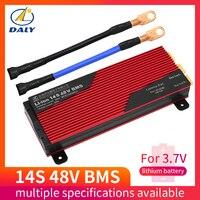 Daly 14 s 48 v батарея pcm bms 200a e bike литий ионная система управления аккумулятором с балансом для солнечной энергии литиевая батарея