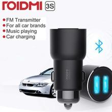 يوبين ROIDMI 3S بلوتوث 5 فولت 3.4A شاحن سيارة مشغل موسيقى FM التطبيق الذكي آيفون و أندرويد التحكم الذكي مشغل MP3