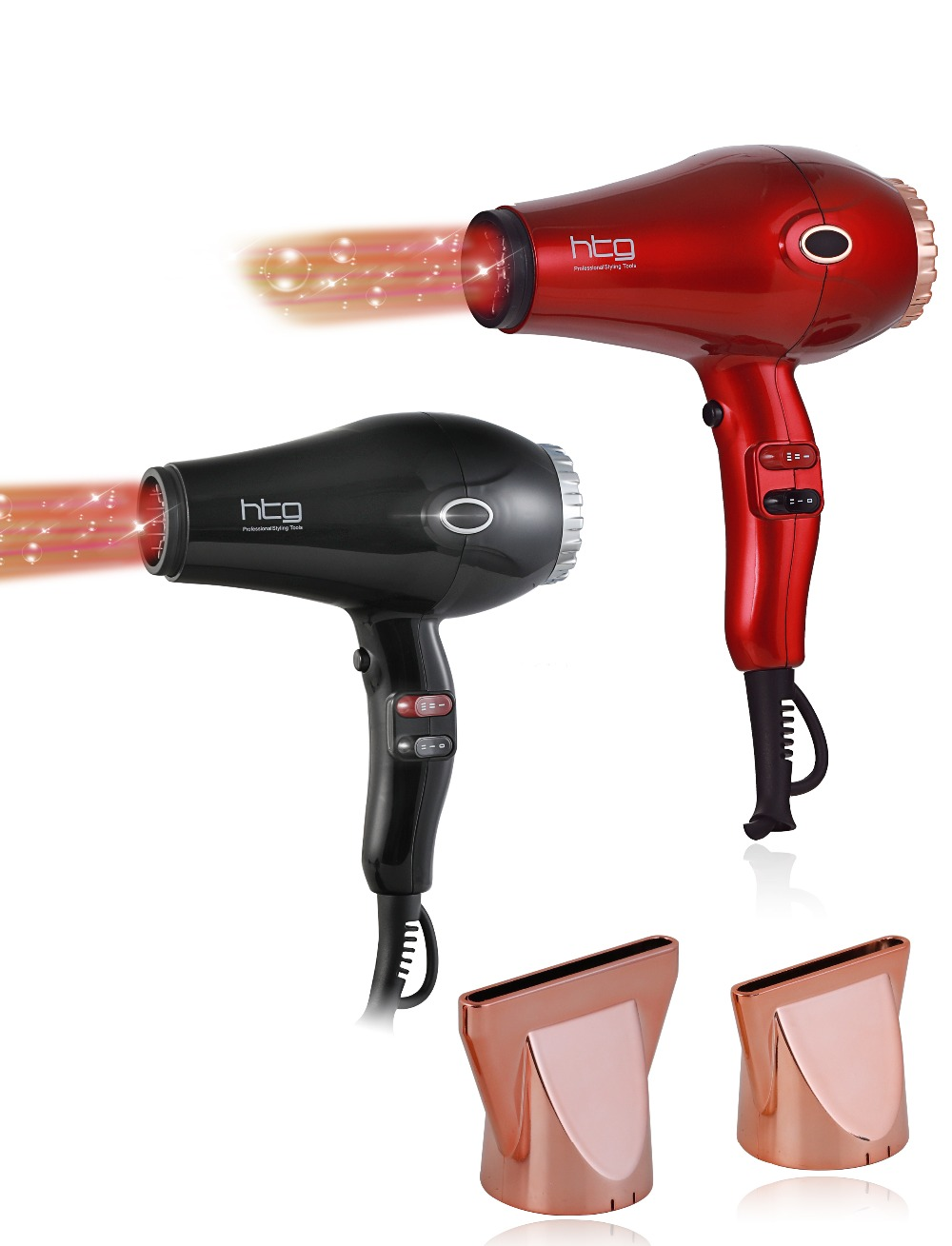 RUSSIA Ship HTG 2300W powerful professional Hair Dryer Blow Dryer Lightweight Negative ion infrared Hair Dryer