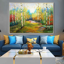 Canvas acrylic painting abstract landscape Palette Knife Wall art Picture for living room home decor cuadro decoration8