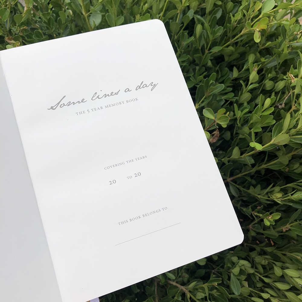 2020 cadernos planejador agenda PERSONALDIARY 5 anos de memória 365 dias