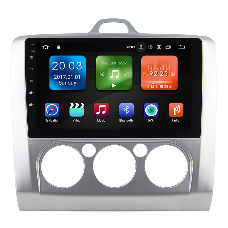 Eunavi 9 inch Android 8.0 Car dvd Video GPS Player For Ford focus 2006-2011 +wifi+4G+BT+Radio+RDS+PX5+4G+32G
