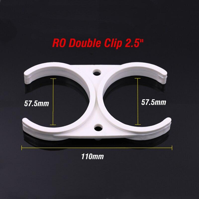 "2.5"" Double Clip Ro Water Accessory Membrane Housing Clip Like 12"" In Line Alkaline Water Filter Cartridge"