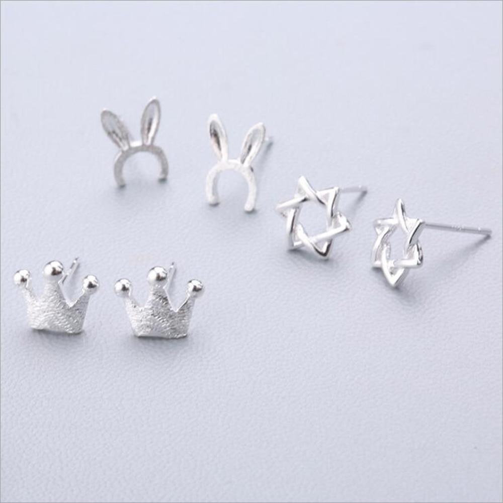 XIYANIKE 925 Sterling Silver Ear Needle Simple Fashion Geometry Stud Earring Personality Refinement Earring Women Jewelry 19-36