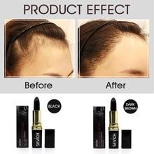 Hair Coloring Cream Black Brown Temporary Hair Dye Pen Lipstick Style Natural Plant Hair Color Cream White Hair Cover Pen