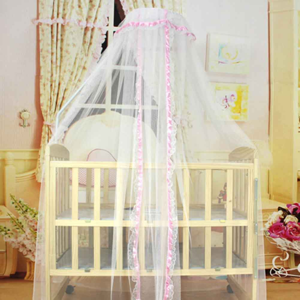 Summer mosquito net baby bed cradle net toddler infant bed tents princess mosquito mesh for infant portable crib