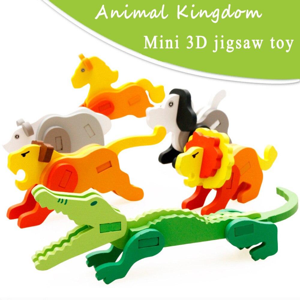 3D Puzzle Деревянные головоломки Паззлы для детей 5 лет красочные деревянные Паззлы детское мини-веселые развивающие монтессори игрушка ja30b