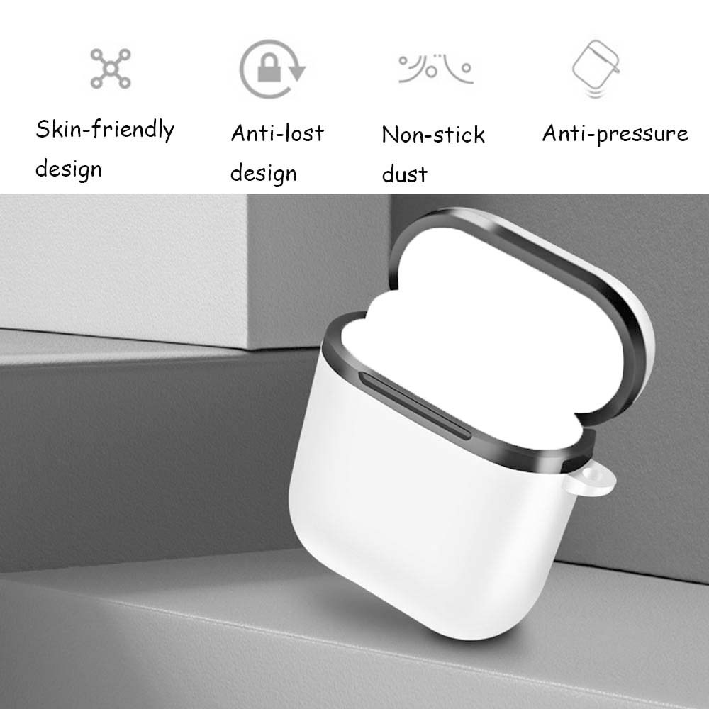JINSERTA Hard TPU PC Case for Airpods Anti-drop, Anti-squeeze Cover for  AirPods Earphone Cases Protecor Wireless Cover