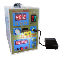 1pc 110v/220v LED Pulse Battery Spot Welder 788H Welding Machine Micro computer Battery charger 800 A 0.1 0.25 mm 36