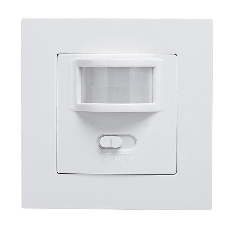 Mayitr AC 220V Infrared PIR Motion Sensor Recessed Wall Lamp Bulb Switch Motion Sensor Switch for LED Light photoelectric switch sensor square reflex light barrier sensor photoelectric switch ac 90 250v mayitr