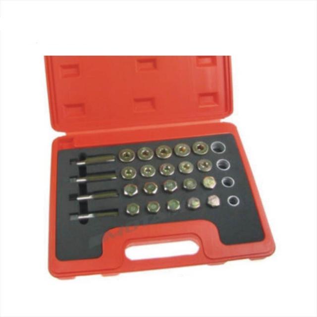 Oil Drain Plug Sump Bolt Thread Repair Kit 24Pc Set M13 - M20 Tap