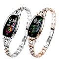Keoker h8 relógio inteligente monitor de freqüência cardíaca pulseira de fitness feminino esporte banda bluetooth pedômetro atividade rastreador para ios android|Relógios inteligentes| |  -