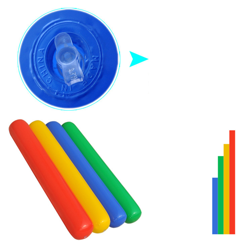 105cm Mix  Color Inflatable Clapper,cheerstick, Toy, Balloon Stick Clapper Cheering Noise Maker