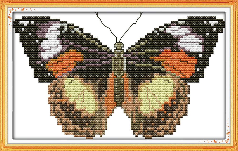 Butterfly Home Decor Counted Printed On Fabric Dmc 14ct 11ct Cross Stitch Kits,embroidery Needlework Sets
