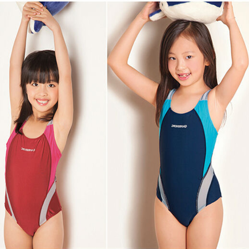 Kids Swimmer girls bathing suit infantil swimwear for bathers children one pieces lovely girl swimsuit 3-14 age