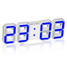 LED Digital Alarm Clock Wall Clock 3D Large Numbers for Vision Impaired People 3 Levels of Brightness adjustable for Home Decor