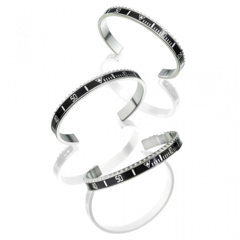 1pcs vintage jewelry initial Cuff bracelet black new steel speedometer bracelet bangle...