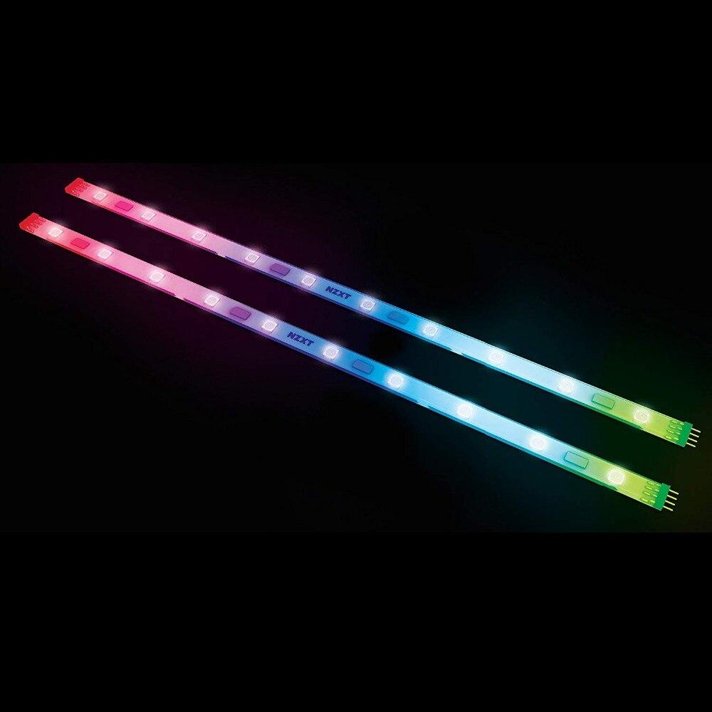 Kit de extensión NZXT HUE avanzada iluminación LED RGB, cinta, 300mm, PC de 10 LED, tira de iluminación Led para ordenador