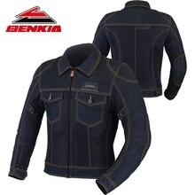 BENKIA Motorcycle Jacket Men Biker Denim Jacket Motocross Biker Jean Jackets Chaquetas Outerwear Jaqueta MotoProtection JC34