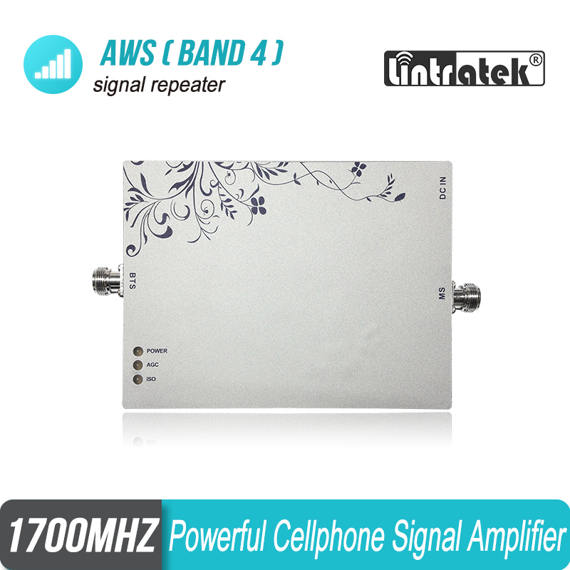 Lintratek Powerful 25dB Output AWS 1700/2100mhz Band 4 Signal Amplifier 3G 4G UMTS LTE 1700 Cellular Booster Repeater 1700mhz #6