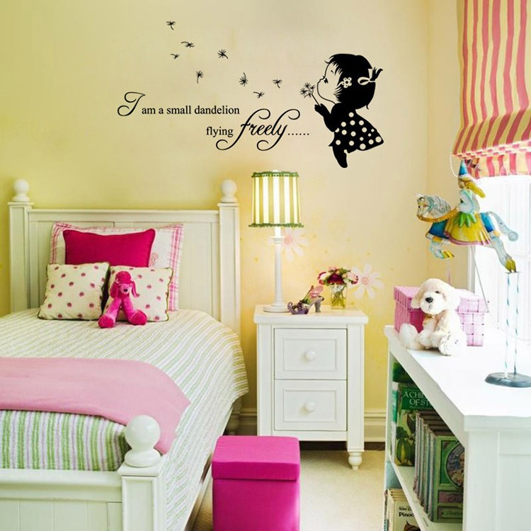 I\'m a small dandelion flying freely vinyl wall decal home decor ...
