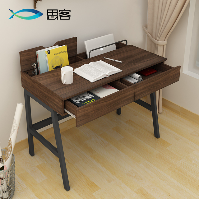 Home desktop computer desk study simple small table with