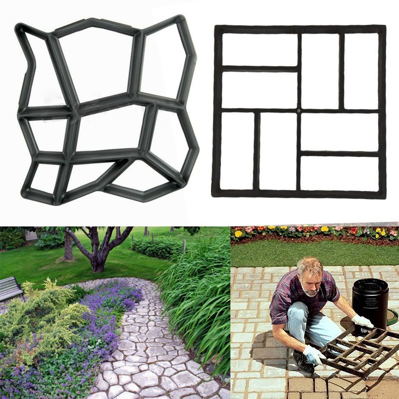 Winomo 45*40cm Plastic Diy Path Maker Mold Manually Paving Cement Brick Molds For Garden Decor Beautiful In Colour Garden Buildings Home & Garden