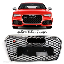 Car Styling Refitting Auto Parts RS7 Style Front Middle Grill Grille Fit For Audi A7 RS7 Vehicle 2016 year