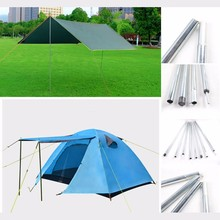 2pcs/set Tent Rod Hot New Outdoor Camping Tent Pole Aluminum Alloy rod Tent Flying Tarp Awning Rod Stand Pole Tent Accessories