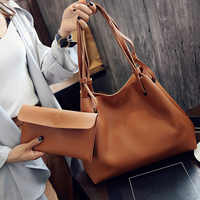 Moda Feminina Lady Composite Bolsa de Ombro Grande Capacidade de Couro PU Durável Para Viagens Bolsas Bolsa Do Saco de Ombro MSJ99