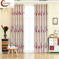 Byetee Curtain Fabrics Shade Fabric Modern Simple Pastoral Kitchen Blackout Curtains For Bedroom Living Room