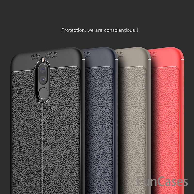For Huawei Nova 2i Case Luxury Ultra-Thin Soft TPU Leather Design Cases For Huawei Mate 10 Lite Coque Fundas Nova 2i Huaewi ...