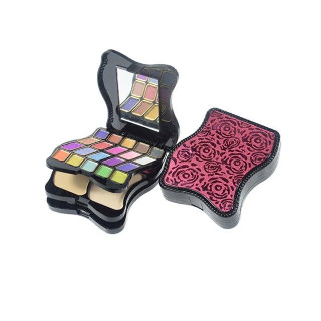 Portable 29 colors Three layers Eye Shadow palette Nude Blusher Powder Lip gloss set Smoky Pretty eyeshadow Cosmetic Makeup set