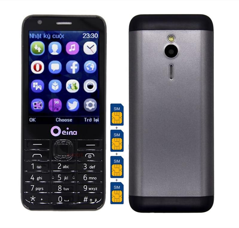 2017 original m230 4 quad sim card phone mobile 2g gsm senior old man women cell phone 2 8. Black Bedroom Furniture Sets. Home Design Ideas