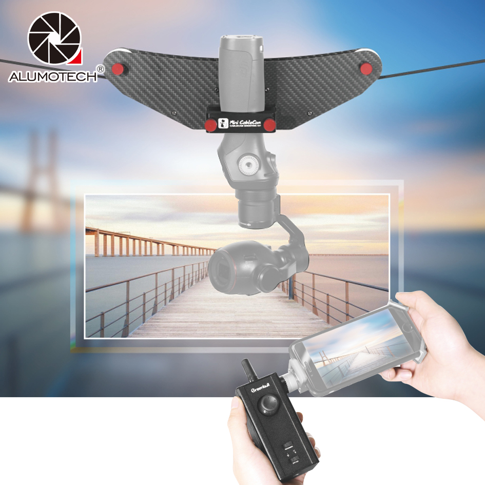 Alumotech Carbon Filber Little Fly Cat Compatible With DJI OSMO Stabilizer Remote Controlling For High Space Video Photography dji osmo pro raw focus handwheel for osmo pro osmo raw inspire 2 focus controller flip control knob original accessories