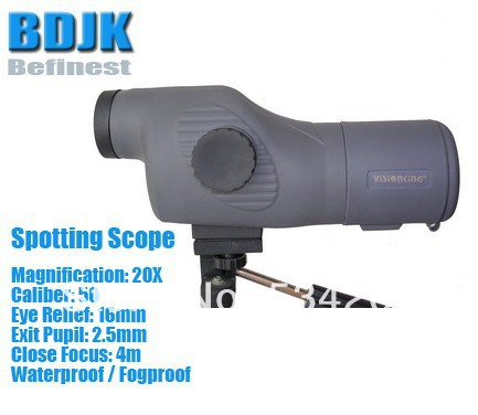 Waterproof / Fog Proof Spotting Scope with 20X Magnification and 50 Objective цена