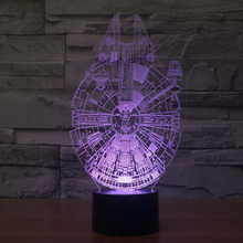 Creative Falcon 3D stereoscopic visual light LED night light acrylic atmosphere colorful gradient small night table lamp