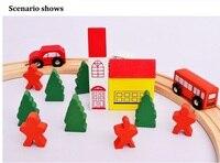 Nouveau en bois piste circulaire jouets enfants assemblé Thomas train pistes de la petite enfance jouets éducatifs