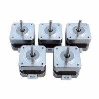 5PCS NEMA 17 Stepper Motors Kit 12V For CNC Reprap 3D Printer 36 8oz In 0
