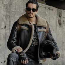 גברים עור אמיתי גברים עור הכבש shearling קצר עיצוב אופנה פרווה מעילי הלבשה עליונה mens עור חולצות מעילים