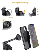 JXSFLYE Magnetic Phone Car Mount, Hands-Free Universal Holder for Dashboard and Windshield