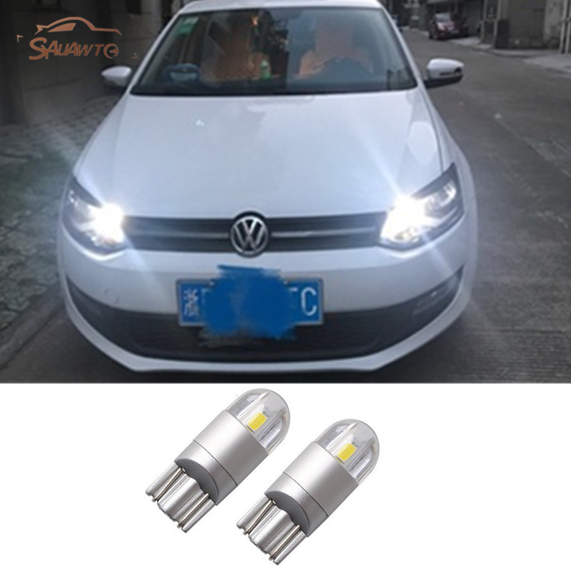 2x T10 194 168 W5W Car LED Bulbs Interior Lamp For Volkswagen VW Polo Golf 4 5 6 <font><b>7</b></font> GTI Passat B5 B6 B7 Jetta MK4 MK5 MK6 Bora CC image